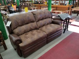 Double Reclining Rustic Sofa